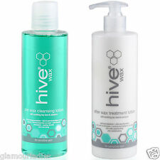 Hive Wax Duo Pre Wax Cleansing Spray & After Wax Lotion 400ml with Tea Tree Oil