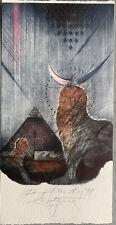 Karol FELIX (SLO) Egypt Pyramid Sphinx PF 1991 Etching Radierung not exlibris