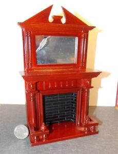 Dollhouse Miniature Indoor Fireplace w Mirror 1:12 inch scale F41 Dollys Gallery