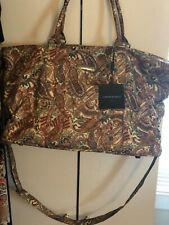 NWT! Cynthia Rowley Large Paisley Quilted Weekender Carryon Bag