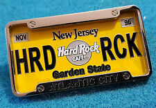 New listing Atlantic City License Plate Series Garden State Chrome Frame Hard Rock Cafe Pin