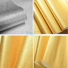 3D Wallpaper Wall Paper Roll Glitter Effect Silver/Gold PVC 10m x 0.53m