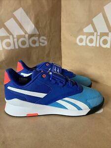 Reebok Lifter PR II Mens Weightlifting Shoes - Blue Size UK 8 Sample New No Box
