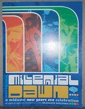 Millennial Dawn 90's Rave Flyer - Adonis - Ectomorph - DJ Godfather - Calyx