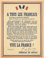 General De Gaulle / A Tous Les Francais. 1940. Lot 121