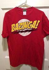 Men's Big Bang Theory Ripple Junction Bazinga T Shirt Size M Graphic Tee red