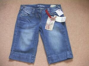 """Girl's Denim Shorts - Long Style - Size UK 30"""" W -  'Blue Rags' - NEW with Tags"""