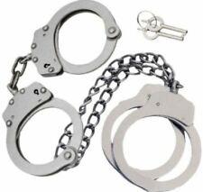 Combo Set Handcuffs Hand Amp Leg Cuffs Irons Silver Double Locking 4 Keys