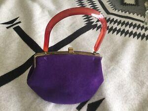 Vintage 1960/'s Handmade Purple Velvet Bolero