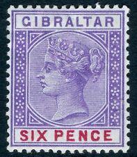 Gibraltar - 1898 6d violeta y rojo SG 44 V17596 Menta montado