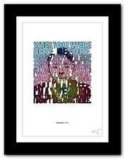RADIOHEAD Creep ❤  song lyrics typography poster art print #90