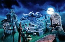 Goosebumps original acrylic painting for game package cover, heavy 3 ply matted