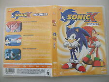 Sonic X Volume 2 (DVD, 2003) Region 4 DVD Rated G Used in Very Good Condition