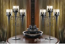 2 Black Torch Gothic dungeon castle medieval throne Candle holder Candelabra
