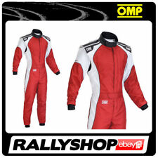 OMP KS-3 Suit Red White Size 60 Go Karting Racing Sport Overall CIK 3 Layers