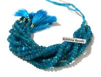 """1 Strand Natural Neon Apatite Rondelle Faceted 5.5-6mm Gemstone Beads 8""""Inch"""