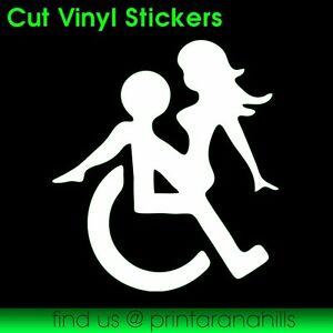 Wheel Chair Sex - Vinyl Decal Cut Sticker 95x105mm - CS00107