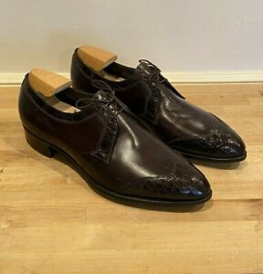 NEW RARE VTG Florsheim Imperial Brown Leather w/ Alligator Dress Shoes Men 11 C