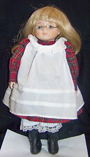 """Jenna"" Bisque 14"" Old-Fash Child Doll by Bette Ball for Gobal Art 1986 Vintage"