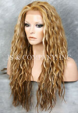 Blonde mix  HEAT SAFE Full Lace Front Wig Wispy Wavy Long Layered NGFT 2216