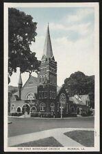 Postcard MONROE Louisiana/LA  1st First Methodist Church & Parsonage view 1930's