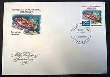 MADAGASCAR  682   PREMIER JOUR FDC   POISSON EPINEPHELUS  FASCIATUS  200F   1982