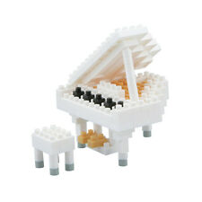 NEW NANOBLOCK Grand Piano White - Nano Block Micro-Sized Building Blocks NBC-053