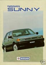 Nissan Sunny 1986-87 UK Market Sales Brochure L LX SLX SGX Coupe Estate