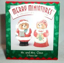 Hallmark Merry Miniatures Mr. And Mrs. Claus 1995 -NEW-NEVER DISPLAYED