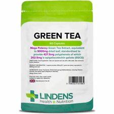 Lindens Green Tea 180 Capsules 9000mg equiv 203mg EGCG Veg Caps DIET WEIGHT LOSS