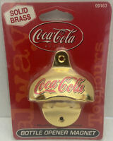 Coca Cola-Bottle Opener-Solid Brass-Magnetized-New-Old Stock-On Bubble Card-RARE