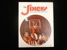 1977-78 Philadelphia 76'ers Basketball Yearbook