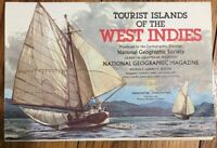 National Geographic February 1981 Map Poster Tourist Islands of the West Indies