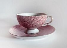 ■ Gio Ponti art-deco floral pattern coffee cup with saucer, cca 1930 ■