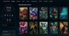 League of Legends EUNE PLAT4 216skins full champ