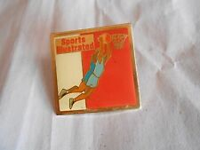 Vintage Sports Illustrated Magazine Basketball Player Advertising Pin Pinback