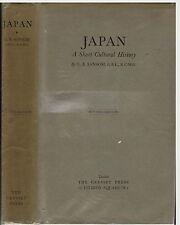 Japan a short cultural history by George B Sansom rev 1952 pub Cresset Press