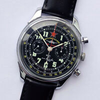 Rare USSR Military Chronograph Poljot aircraf 1-MChZ Kirov 3017 Molniya