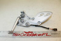 08-16 SUZUKI HAYABUSA GSX-R 1300 GSXR RIGHT REARSET BRAKE FOOT PEDAL BRACKET SET