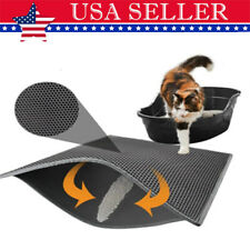 Double-Layer Cat Litter Mat Trapper Foldable Pad Pet Rug EVA Foam Rubber