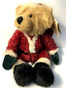 "Russ Berrie KRIS BEAR Santa Teddy Bean Bag Plush Stuffed CHRISTMAS 11"" Toy"