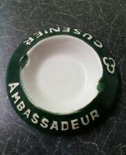 Vintage Original French Ambassadeur Cusenier Ceramic Advertising Bar Ashtray