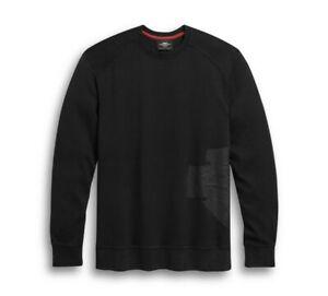 New Harley-Davidson® Men's Wrap Around Logo Knit Tee - Black, 96309-20VM