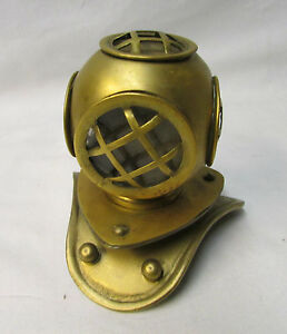 Antique Brass Miniature Divers Helmet