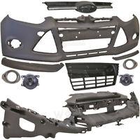Set Stoßstange vorne grundiert +Nebel+Grill+Zubehör Ford Focus III 3 Bj. 11-14