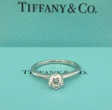 TIFFANY & Co. Platinum .47ct Diamond Engagement Ring 4.5 with Certificate