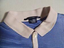 Polo Golf Ralph Lauren Mens Blue Polk a Dot Polo Shirt Pima Cotton L