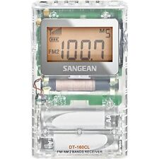Sangean DT-160CL FM-Stereo/AM Pocket Radio (Clear) New