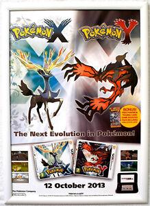 Pokemon X & Y RARE 3DS 42cm x 59cm Promotional Poster