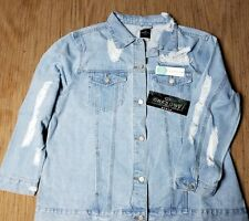 Womens Size 2X Distressed Jeans Jacket New one on one stich fix!
